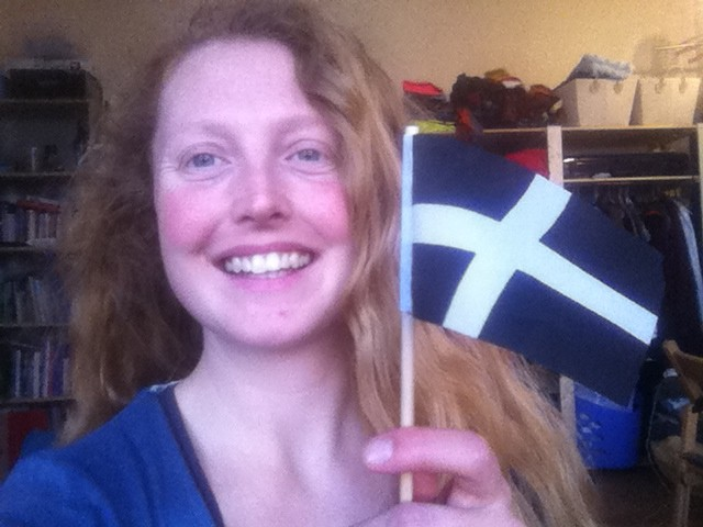 Kate and Piran flag